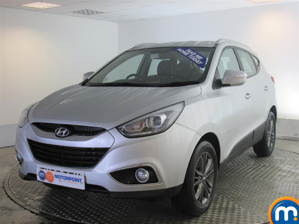 used or nearly new hyundai ix35 2 0 crdi se nav 5dr 4wd auto silver for sale in newport motorpoint. Black Bedroom Furniture Sets. Home Design Ideas