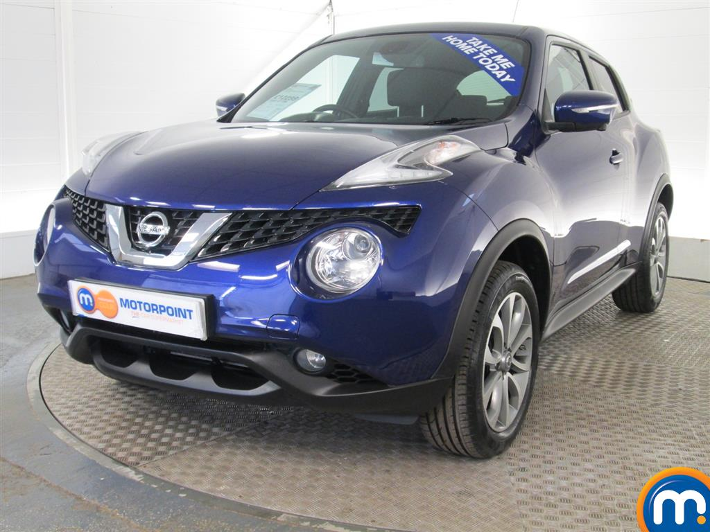 used or nearly new nissan juke 1 5 dci tekna 5dr blue for sale in peterborough motorpoint. Black Bedroom Furniture Sets. Home Design Ideas