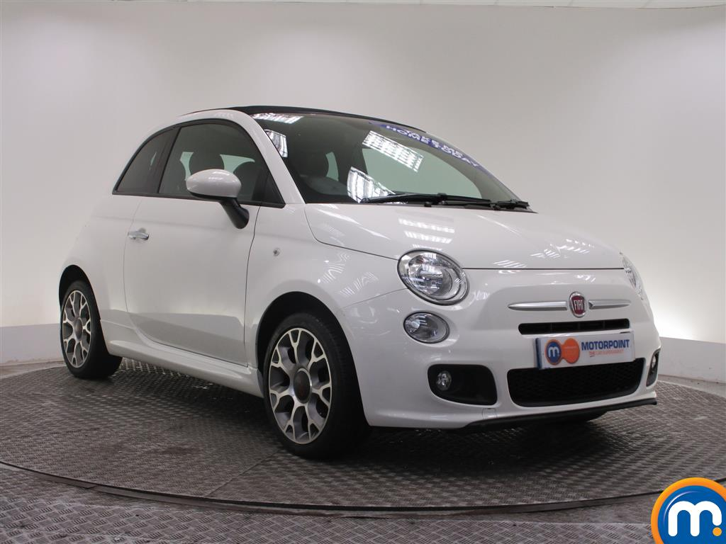 used or nearly new fiat 500 1 2 s convertible dualogic white for sale in derby motorpoint. Black Bedroom Furniture Sets. Home Design Ideas