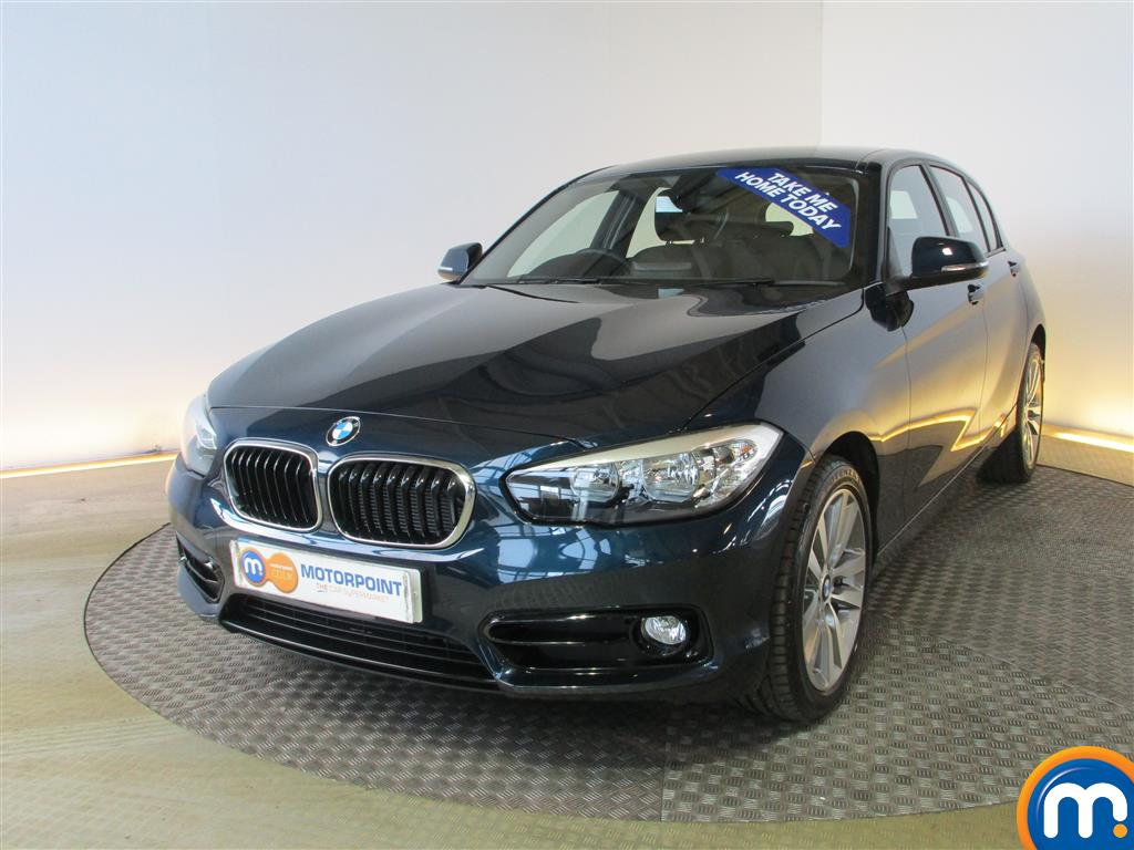 used or nearly new bmw 1 series 116d sport 5dr nav dcp new model blue for sale in. Black Bedroom Furniture Sets. Home Design Ideas