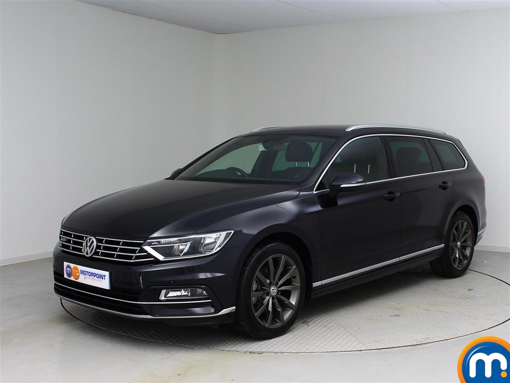 used or nearly new vw passat 2 0 tdi r line estate black. Black Bedroom Furniture Sets. Home Design Ideas