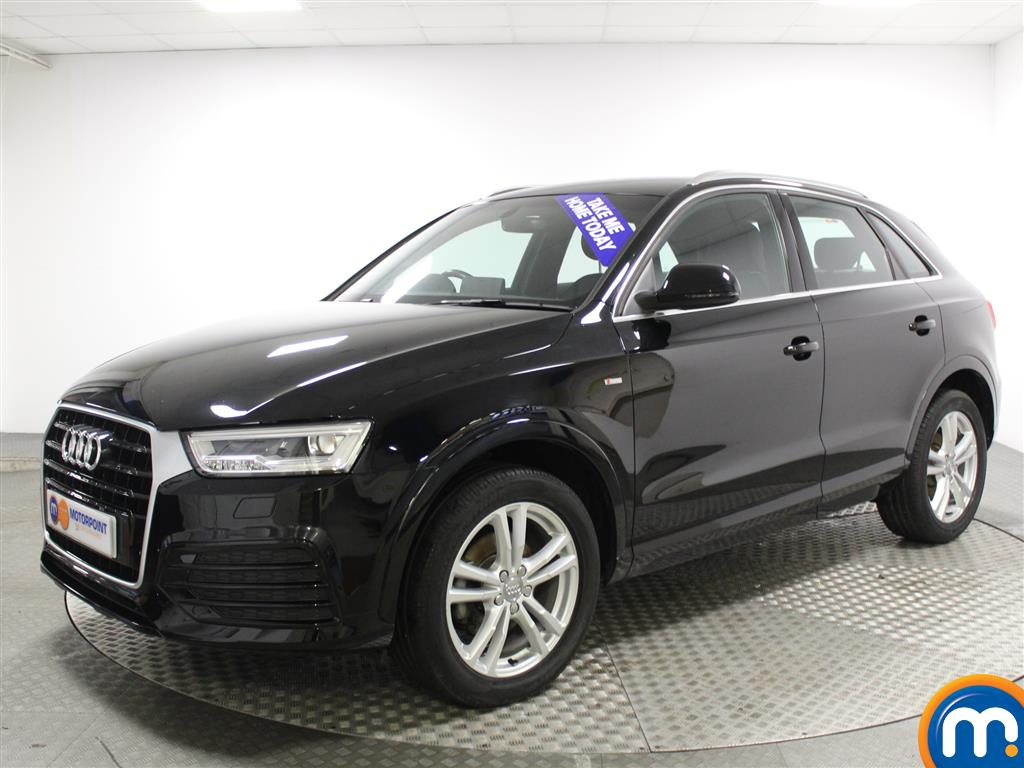 used or nearly new audi q3 2 0 tdi s line 5dr black for. Black Bedroom Furniture Sets. Home Design Ideas